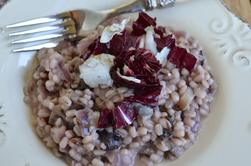"""Un Piatto Speciale Dalla """"Cucina Di Barbara"""": Farro Con Radicchio E Yogurt Con Lardo Vecchio Varzi"""