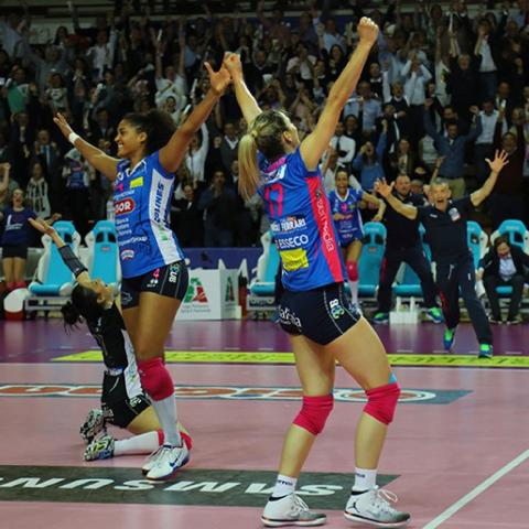 Igor Volley, la squadra sponsorizzata dal salumificio Vecchio Varzi, Campionesse 2017